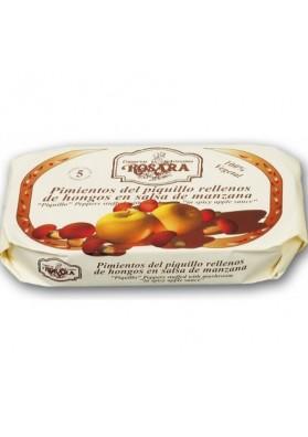Pimientos del piquillo rellenos de hongos y Manzana