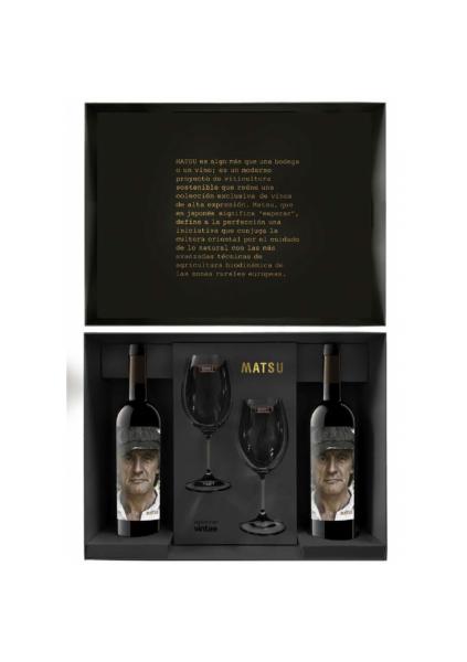 Caja Matsu con 2 copas